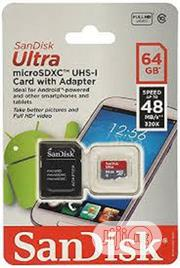 Sandisk 64 Gb Memory Card and Adapter | Accessories for Mobile Phones & Tablets for sale in Delta State, Uvwie