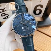IWC Chronograph Silver Leather Strap Watch | Watches for sale in Lagos State, Lagos Island