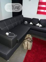 L Shape LG Leather Sofa Chair | Furniture for sale in Lagos State, Mushin