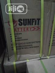 12V 180AH Slim Telecom Sunfit Deep Cycle Battery | Solar Energy for sale in Lagos State, Ikeja