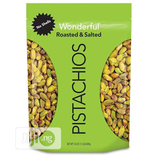 Pistachios, No Shells Roasted And Salted, Resealable Pouch - 680g