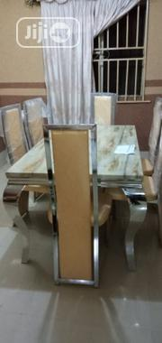 Marble Dinning by 6 Chairs | Furniture for sale in Lagos State, Lekki Phase 1