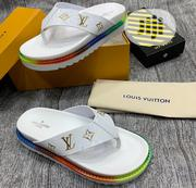 Louis Vuitton Paris White Slides | Shoes for sale in Lagos State, Lagos Island