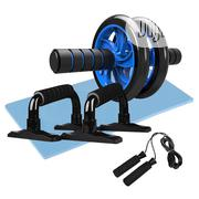 4-in-1 AB Wheel Roller With Push-up Bar Jump Rope And Knee Pad | Sports Equipment for sale in Lagos State, Victoria Island