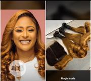 Super Double Drawn Magic Curls Human Hairs Weaves and Closure | Hair Beauty for sale in Lagos State, Lagos Mainland