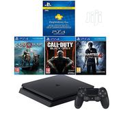 Sony PS4 500GB Slim Console+3 Games And 3 Month PS Plus Membership | Video Game Consoles for sale in Abuja (FCT) State, Central Business District