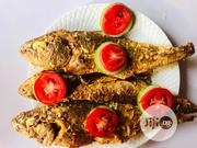 Fried Croaker Fish With Sliced Cabbage And Tomato | Party, Catering & Event Services for sale in Oyo State, Ibadan North