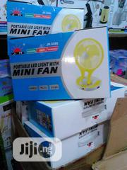 Portable Mini Rechargeable Fan With Light Double Speed | Home Appliances for sale in Lagos State, Lagos Island