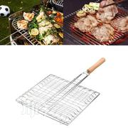 Bbq Barbecue Meat Burger Fish Long Handle Holder Grill Rack Basket | Kitchen Appliances for sale in Lagos State, Lagos Island