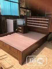 New Bed Frame 4by6 With Two Side Drawers | Furniture for sale in Abuja (FCT) State, Lugbe District