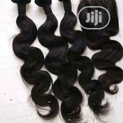 Human Hair Body Wave With Closure | Hair Beauty for sale in Lagos State, Lagos Island