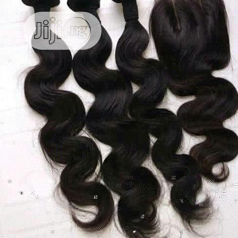 Human Hair Body Wave With Closure