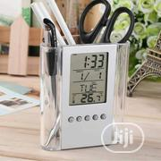 Pen Holder With Digital Clock | Stationery for sale in Lagos State, Ilupeju