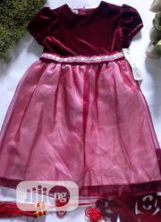 Burgundy Wine Suede Gown   Children's Clothing for sale in Lagos State, Ikeja