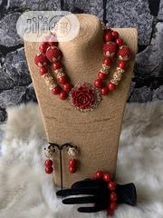 Coral Wedding Beads (Necklace, Earrings and Bracelet) | Jewelry for sale in Delta State, Ugheli