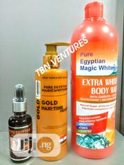Pure Egyptian Magic Extra Whitening Set (With Gold Maxitone Lotion)   Skin Care for sale in Lagos State, Amuwo-Odofin