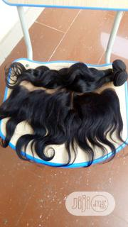 20 Inches Peruvian Body Wavy With Frontal | Hair Beauty for sale in Lagos State, Ikeja