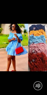 Off Shoulder Short Dress With Belt   Clothing Accessories for sale in Lagos State, Lagos Island