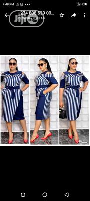 New Female Quality Stripe Gown | Clothing for sale in Lagos State, Amuwo-Odofin