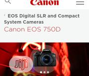 Canon 750D With 18-55mm Stm | Photo & Video Cameras for sale in Lagos State, Lagos Island