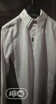 Men'S Double Collared Fitted Shirt in Pale Pink N White Size XL | Clothing for sale in Rivers State, Port-Harcourt