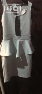 Peplum Dress With Mesh Panel in Mint Size UK 8/10 S/M | Clothing for sale in Rivers State, Port-Harcourt