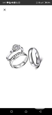 Steel Wedding Ring Set | Wedding Wear for sale in Lagos State, Lagos Mainland