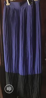 Pleated Maxi Skirt In Black And Cobalt Blue Size 14 UK   Clothing for sale in Rivers State, Port-Harcourt