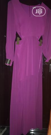 Fushia Maxi Cut Out Dress With Gold Cuffs In Size 14 UK   Clothing for sale in Rivers State, Port-Harcourt