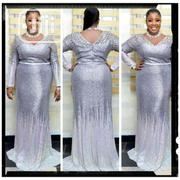 New Quality Silver Turkey Long Gown | Clothing for sale in Lagos State, Amuwo-Odofin