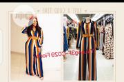New Beautiful Female Stripe Jumpsuit | Clothing for sale in Lagos State, Amuwo-Odofin