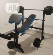 Bench Press With 50kg Barbel and Dumbbell | Sports Equipment for sale in Lagos State, Lekki Phase 2