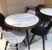 Round Three Leg Mable Coated Glass Table | Furniture for sale in Lagos State, Ojo