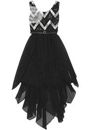 Tween Diva by Rare Editions Black Silver Sequin Chevron-Stripe Dress | Children's Clothing for sale in Lagos State, Ajah