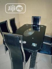 Excellent Glass Dining Set With Six Marble Chairs | Furniture for sale in Anambra State, Nnewi