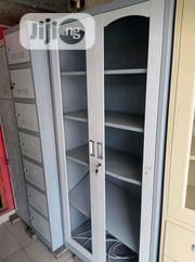Brand New Imported Metal Book Shelve With Double Glass Doors.   Furniture for sale in Lagos State, Lagos Mainland