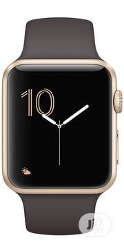 Apple & Eve Watch Series 2 - 42mm Gold Aluminum Case Cocoa Sport Band | Smart Watches & Trackers for sale in Lagos State, Ikeja