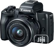 Canon EOS M50 Mirrorless Camera Kit W/Ef-M15-45mm and 4K Video - Black   Photo & Video Cameras for sale in Lagos State, Ikeja