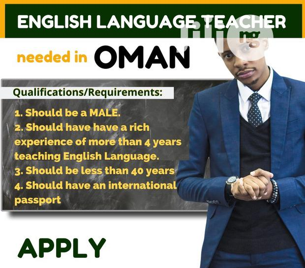 Archive: Experienced Male English Teacher Needed In Oman