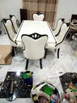 Unique Standard Set Of 6 Seaters Marble Dining Table | Furniture for sale in Ojo, Lagos State, Nigeria