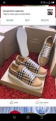 Burberry Sneaker Shoes   Shoes for sale in Lagos Island, Lagos State, Nigeria