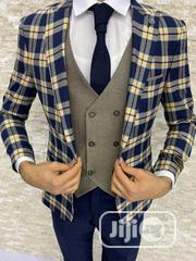Exclusive 3 Piece Turkey Checkers Suit: Jacket, Vest And Trousers | Clothing for sale in Lagos State, Lagos Island