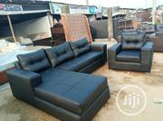Leather L Shaped And A Single | Furniture for sale in Lagos State, Ajah