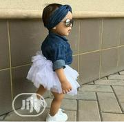 3in 1 Jean Top With Tutu Skirt And Headband   Children's Clothing for sale in Lagos State, Kosofe