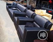 Complete Sets of Leather Combination With Strips Clothes at Cheapest | Furniture for sale in Oyo State, Ibadan