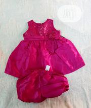 Jayne Copeland Fuschia Pink Baby Girl 2 Pc Dress for Special Occassion   Children's Clothing for sale in Lagos State, Victoria Island