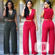 V-Neck Palazo Pant Jumpsuit | Clothing for sale in Rivers State, Obio-Akpor