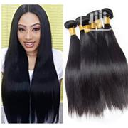"Black Straight Weavon 24"" + Free Closure (6 Full Bundles) COL 1B 