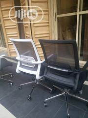 Grey and Black Mesh Swivel Office Chairs | Furniture for sale in Lagos State, Victoria Island