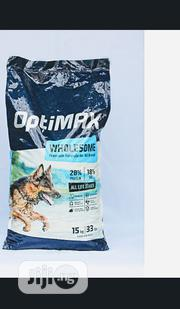 Optimax Dog Food Puppy Adult Dogs Cruchy Dry Food Top Quality | Pet's Accessories for sale in Lagos State, Ikotun/Igando